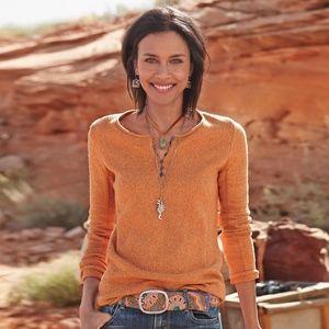 Sundance Homestead Henley Sweater Orange L